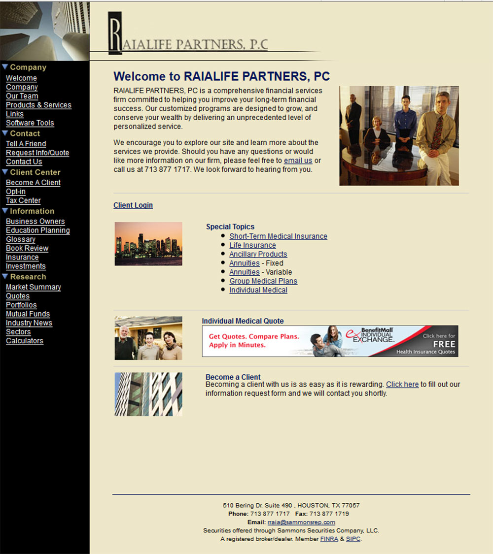 RAIALIFE PARTNERS, PC